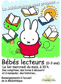 Bébés Lecteurs @ LE CHATELET EN BRIE, médiathèque  | Le Châtelet-en-Brie | Île-de-France | France