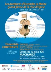Concert de Poche : Les Aventures d'Eustache le Moine, grand pirate de la Côte d'Opale  @ Machault, au gymnase    Machault   Île-de-France   France