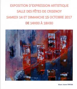 Expo peinture  @ Crisenoy, salle des fête | Crisenoy | Île-de-France | France