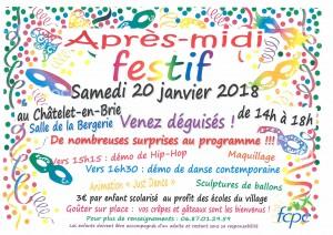 Après-midi festif @ Salle de la Bergerie | Le Châtelet-en-Brie | Île-de-France | France
