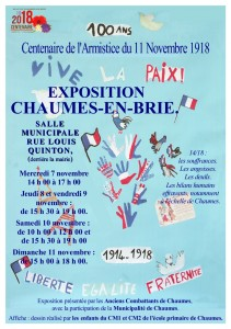 Exposition du centenaire 14-18 @ Chaumes-en-Brie