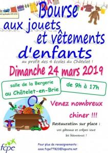 Bourse aux jouets et vêtements d'enfants @ Le Châtelet-en-Brie