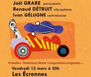 Concert de Poche // Joël Grare, Renaud Détruit & Ivan Gélugne @ Les Ecrennes