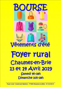 Bourse vêtements d'été @ Chaumes-en-Brie