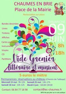 Vide-greniers littéraire et musical @ Chaumes-en-Brie