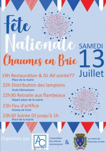 Fête nationale @ Chaumes-en-Brie