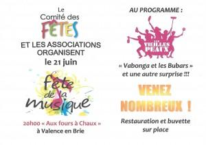 Fête de la musique @ Valence-en-Brie