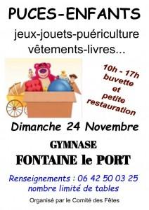 Puces enfants @ Fontaine-le-Port