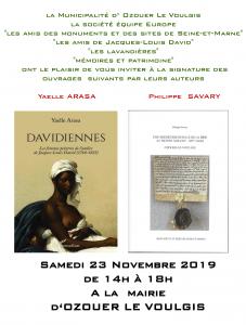 Signature d'ouvrages de Y. Arasa et P. Savary @ Ozouer-le-Voulgis