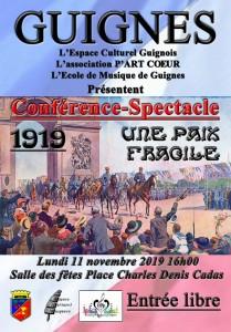 """Conférence spectacle """"Une paix fragile"""" @ Guignes"""