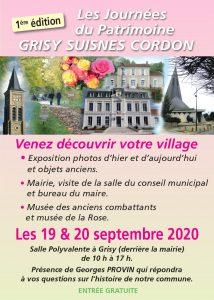 Les Journées du Patrimoine à Grisy-Suisnes Cordon @ Grisy-Suisnes
